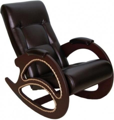 Кресло-качалка КОМФОРТ (ИЛ-03-Н Dondolo мод. 4 Or. Perlam 120) темно-коричневый