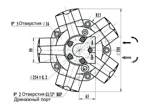 Гидромотор IPM4-450