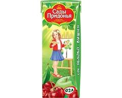 """Сок """"Сады Придонья"""" яблочно-вишневый осветленный восстановленный 200 мл"""