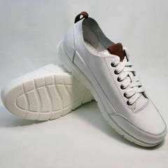 Белые кроссовки на белой подошве мужские Faber 193909-3 White.