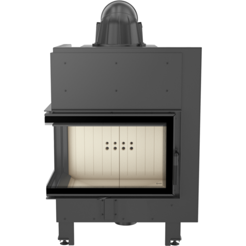Каминная топка Kratki MBM/L/BS/SG (гнутое стекло слева) (10 кВт)