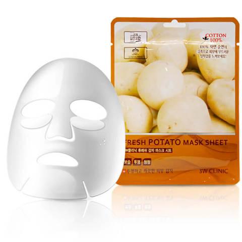 Тканевая маска для лица КАРТОФЕЛЬ Fresh Potato Mask Sheet, 3W CLINIC
