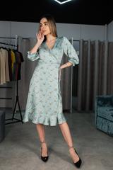 Платье из шелка ниже колена Nadya