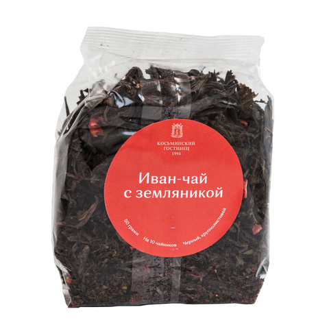 Иван-чай «Косьминский гостинец» крупнолистовой с земляникой, 50 г