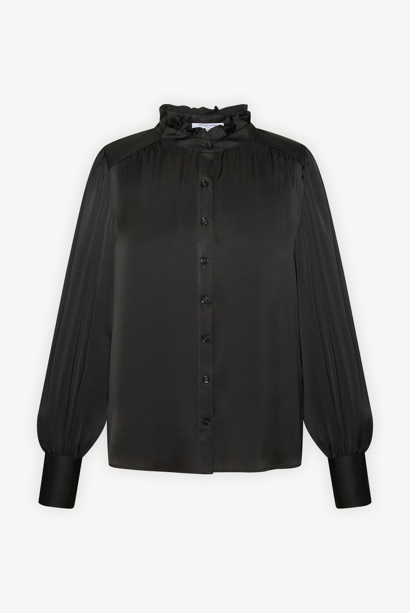 CHIRAZ - Атласная рубашка с рюшами на воротнике