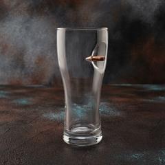 Пивной бокал с пулей «Real bullet»  крафт, 500 мл, фото 4