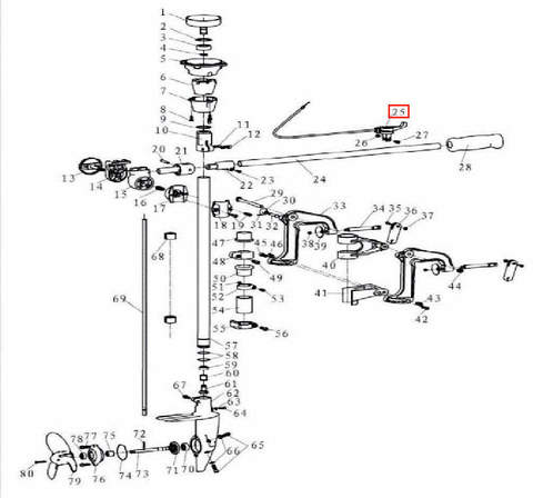 Кнопка остановки двигателя в сборе для лодочного мотора T3,5 Sea-PRO