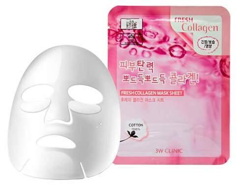 Тканевая маска для лица КОЛЛАГЕН Fresh Collagen Mask Sheet, 3W CLINIC
