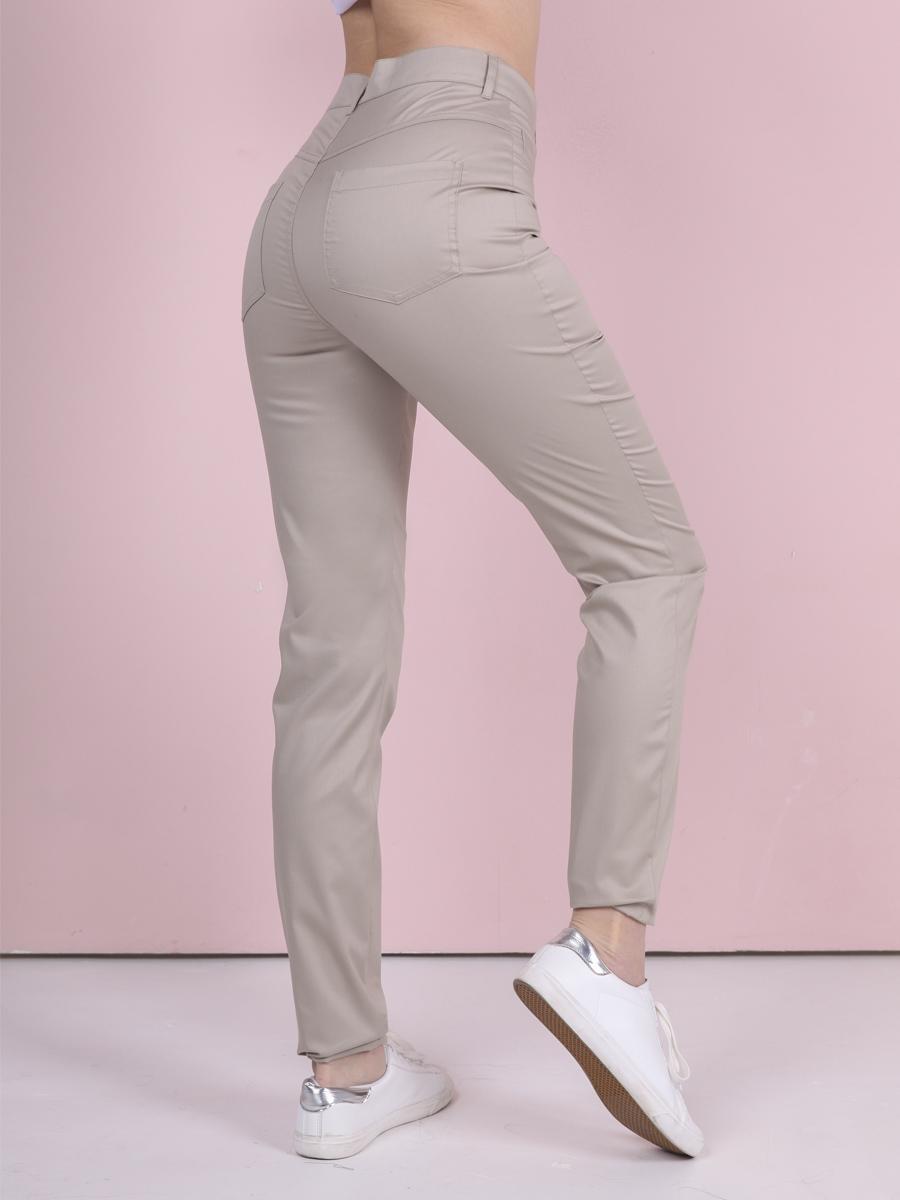 Медицинские джинсы Б-118 MediS.moda песочного цвета