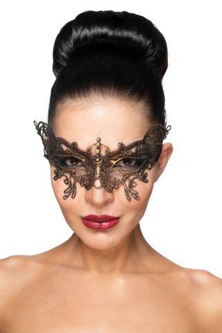 Золотистая карнавальная маска  Спика