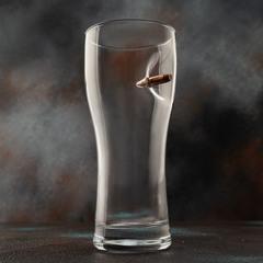 Пивной бокал с пулей «Real bullet»  крафт, 500 мл, фото 5