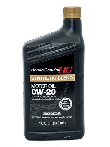 HONDA Synthetic Blend 0W20 SN Масло моторное полусинт. SN, GF-5 (пластик/США)