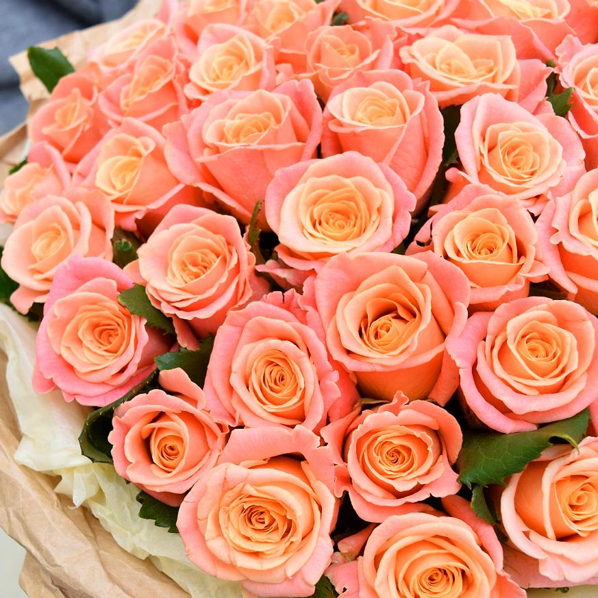 Купить персиковые розы Мисс Пигги в Перми