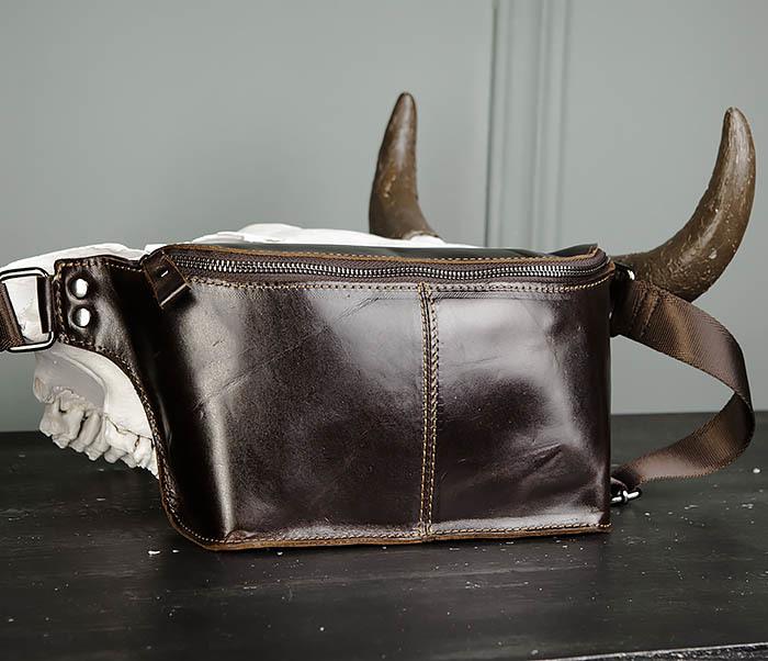 BAG473-2 Мужская сумка на пояс из натуральной кожи