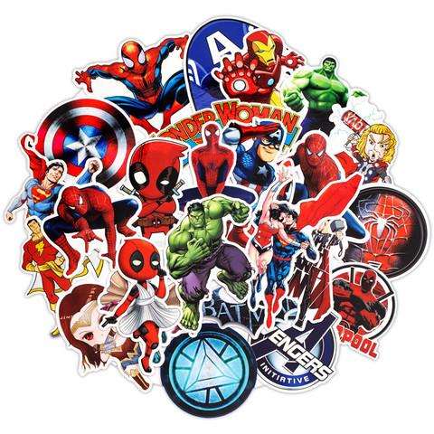 Супергерои набор наклеек 50 штук