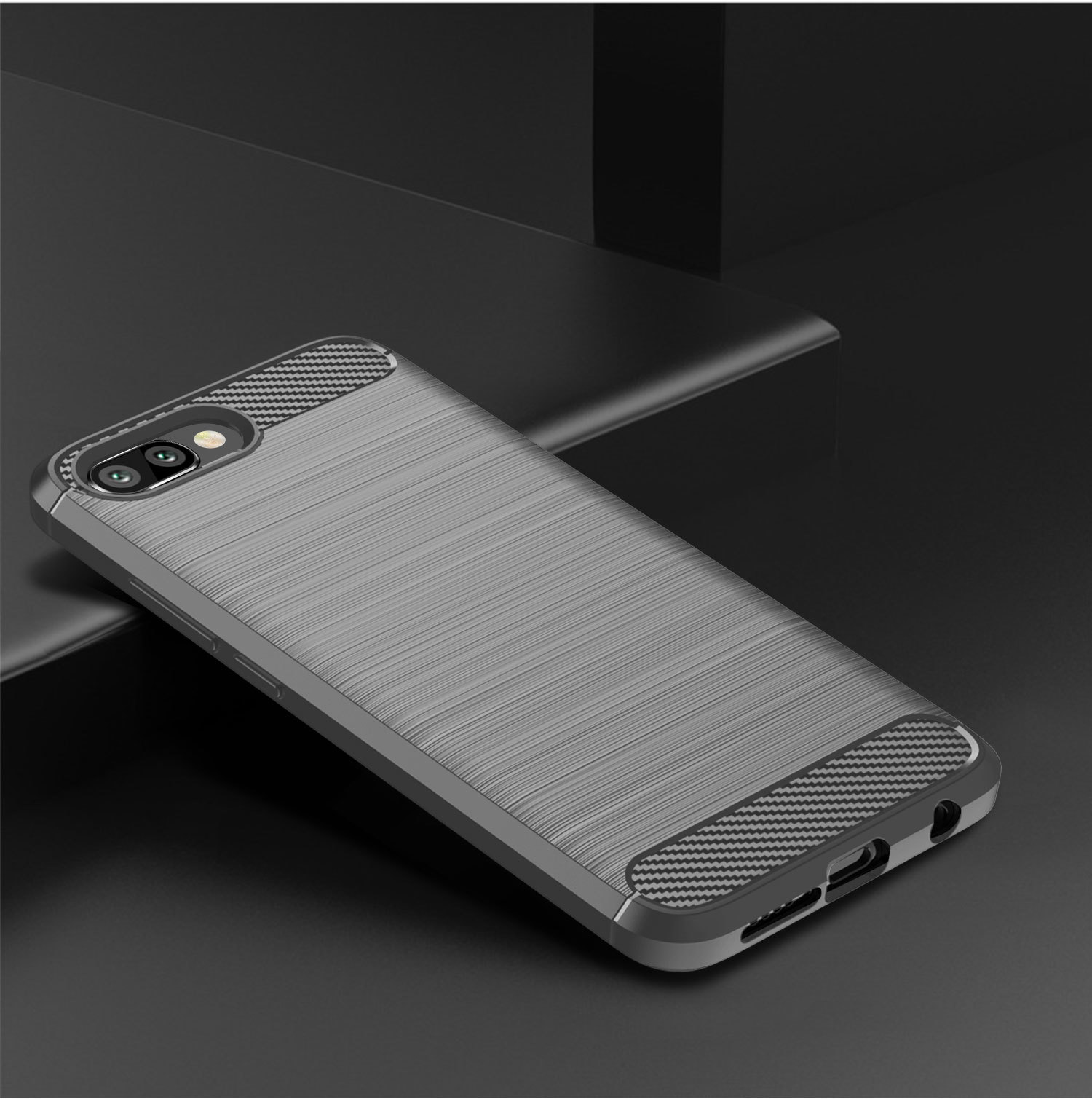 Чехол Honor 10 (10 GT) цвет Gray (серый), серия Carbon, Caseport