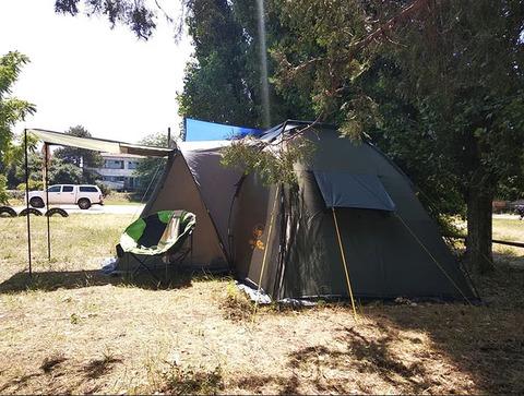 Палатка Canadian Camper SANA 4 PLUS, цвет forest, вид сбоку.