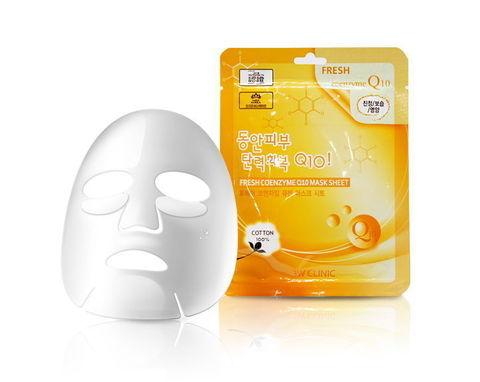 Тканевая маска для лица КОЭНЗИМ Fresh Coenzyme Q 10 Mask Sheet, 3W CLINIC