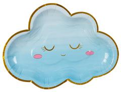 Тарелки фигурные, Детские грезы, Облако голубое, 26 см, 6 шт, 1 уп.