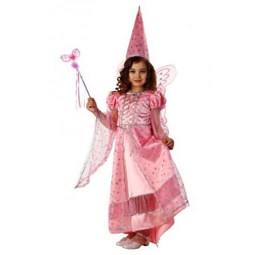Детский карнавальный костюм Фея сказочная розовая