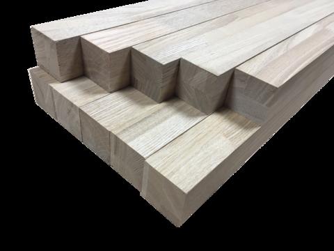Мебельный брус - ясень сращённый 60 мм х 60 мм х 900 мм