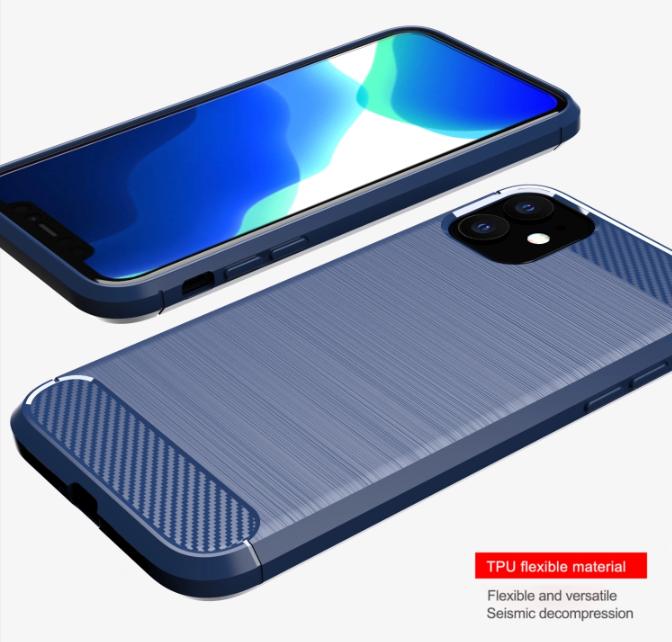 Чехол для iPhone 11 цвет Blue (синий), серия Carbon от Caseport