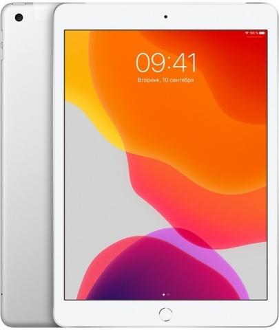 Планшет Apple iPad (2019) 128Gb Wi-Fi + Cellular (Silver) (MW6F2RU/A)