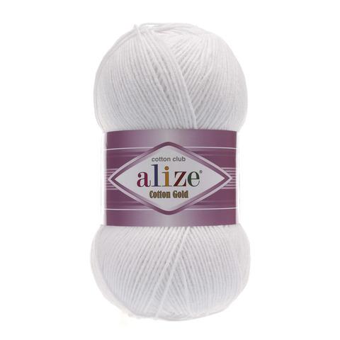 Пряжа Alize Cotton Gold белый 55