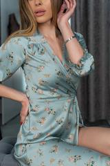 Платье из шелка ниже колена купить