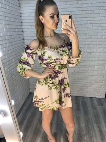 летнее платье на бретелях недорого