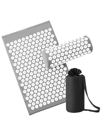 Массажный коврик Acupressure с подушкой (Серый)
