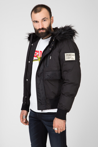 Мужская черная куртка W-BURKISK Diesel