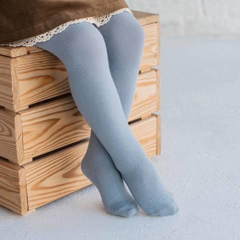Plain tights - Light Denim