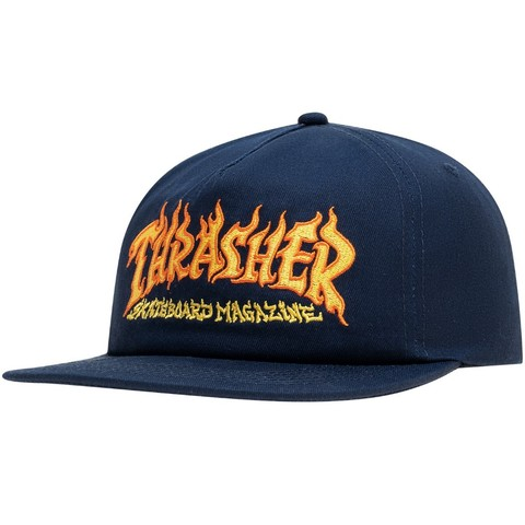 Кепка Thrasher Fire Logo Snapback Navy