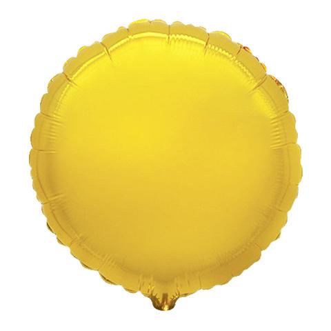 Шар-круг Золотой 45 см