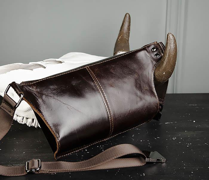 BAG473-2 Мужская сумка на пояс из натуральной кожи фото 04