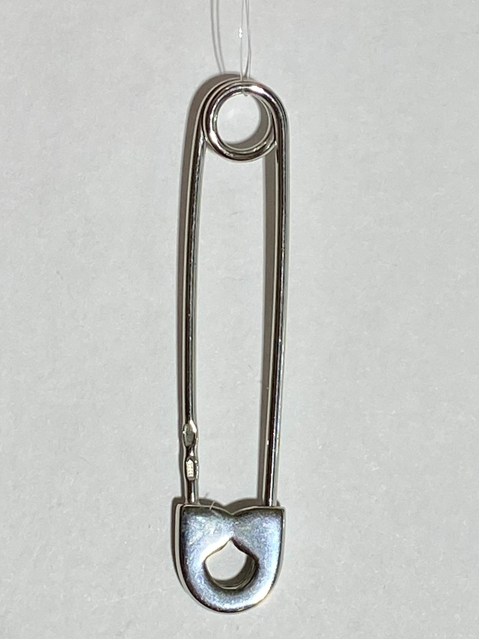 Булавка м (брошь из серебра)