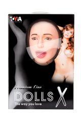 Надувная секс-кукла брюнетка с реалистичной головой