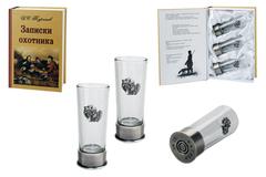Подарочный набор «Записки охотника» с боекомплектом стопок, фото 1