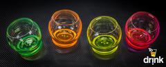 Набор цветных стаканов для воды Crystalex Crazy, 390 мл, 4 шт, фото 4