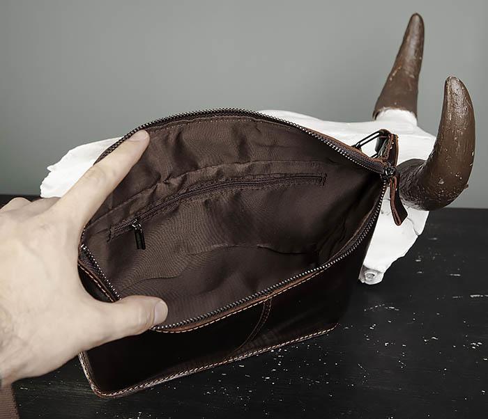 BAG473-2 Мужская сумка на пояс из натуральной кожи фото 05