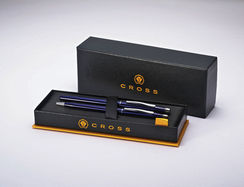 Набор подарочный Cross Classic Century - Translucent Blue Lacquer, шариковая ручка + ручка-роллер123