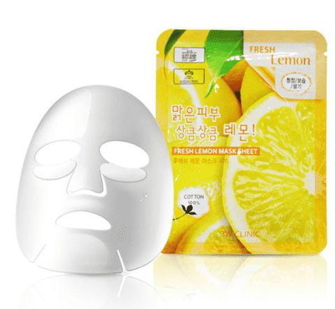 Тканевая маска для лица ЛИМОН Fresh Lemon Mask Sheet, 3W CLINIC