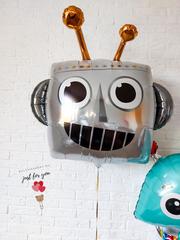 Фольгированный шар голова робота