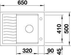 Мойка Blanco Elon 45 S - схема