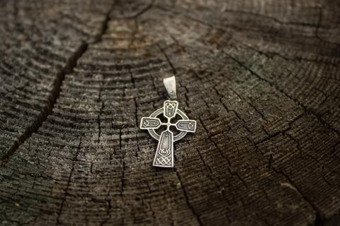 серебряный оберег Кельтский Крест