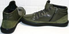 Демисезонные ботинки мужские кожа термо Luciano Bellini BC2803 TL Khaki.