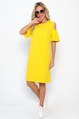 <p>Романтическое платье полу приталенного силуэта. Рукав до локтя, плечо открыто.(Длины: 46-96см; 48-98см; 50-101 см; 52-103 см)</p>