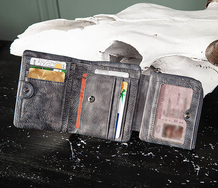 WL329-3 Мужское портмоне из натуральной кожи с монетницей фото 06