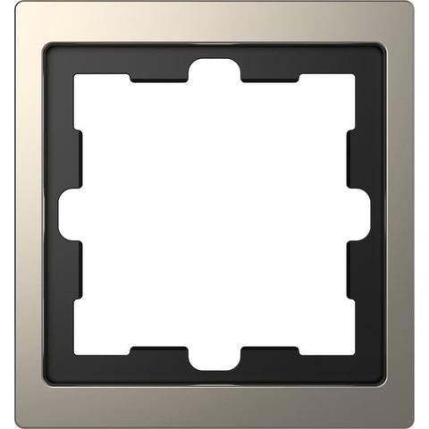 Рамка на 1 пост. Цвет Никель. Merten. D-Life System Design. MTN4010-6550
